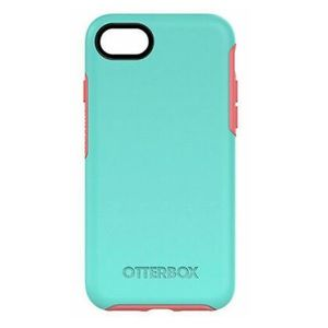 TEAL AND PINK OTTERBOX CASE